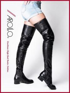 AROLLO Low Heel Boots