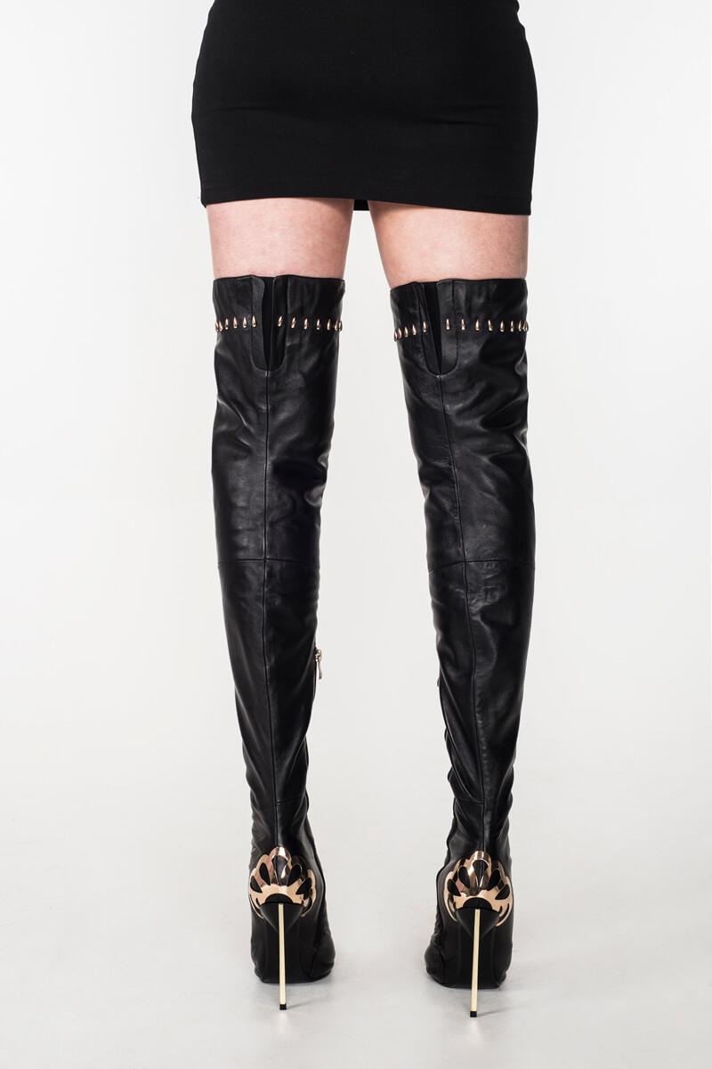 Arollo Long Overknee Lady Vanessa Ii Genuine Leather