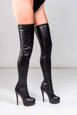 Long Overknee Stretch Black