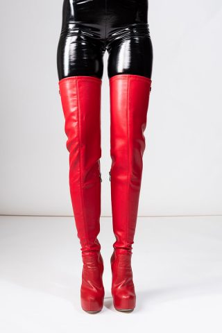 Arollo Long Overknee Stretch Red