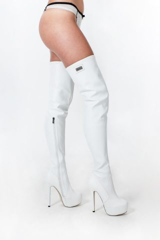 Long Overknee Stretch White Limited Edition