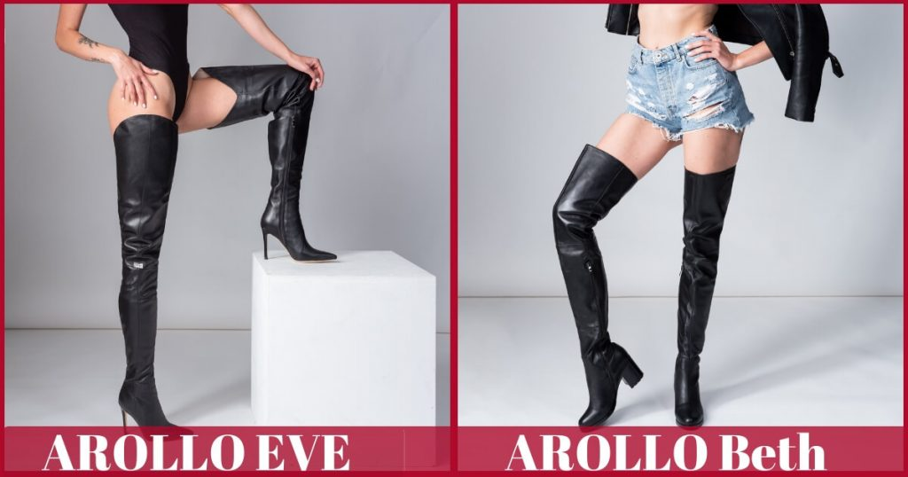 AROLLO Thigh High Boots Eve and Beth