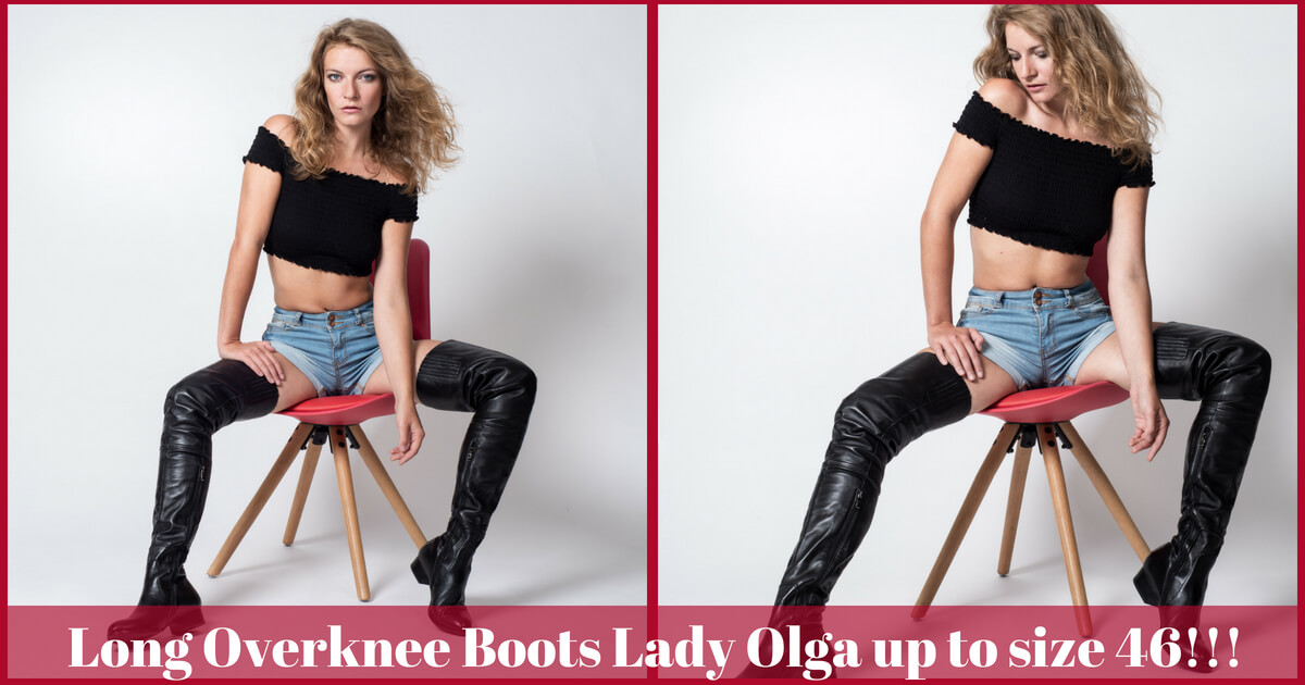 Lady Olga Overknee Boots up to Size 46