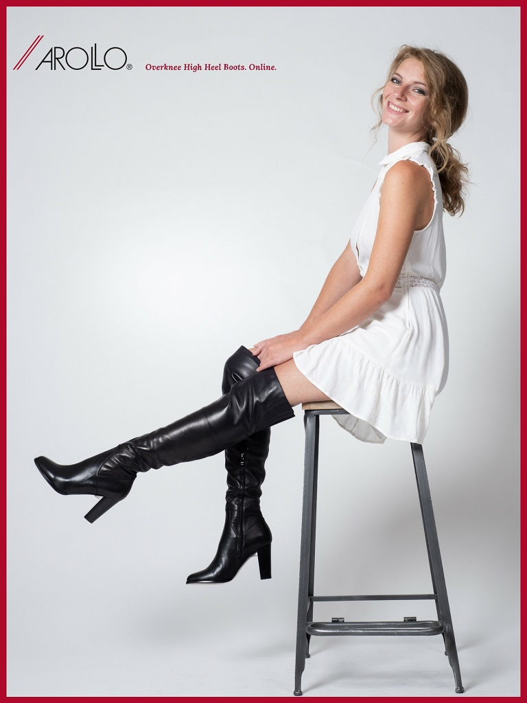 Arollo Leather Heeled Boots Overknee-Boots-Victoria-1