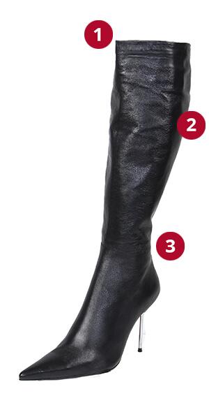 Knee High Stiletto Roma Measurements