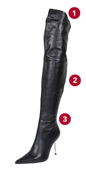 Overknee Stiletto Roma Measurements